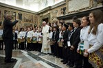 Pope greets artists of Christmas Concert in the Vatican