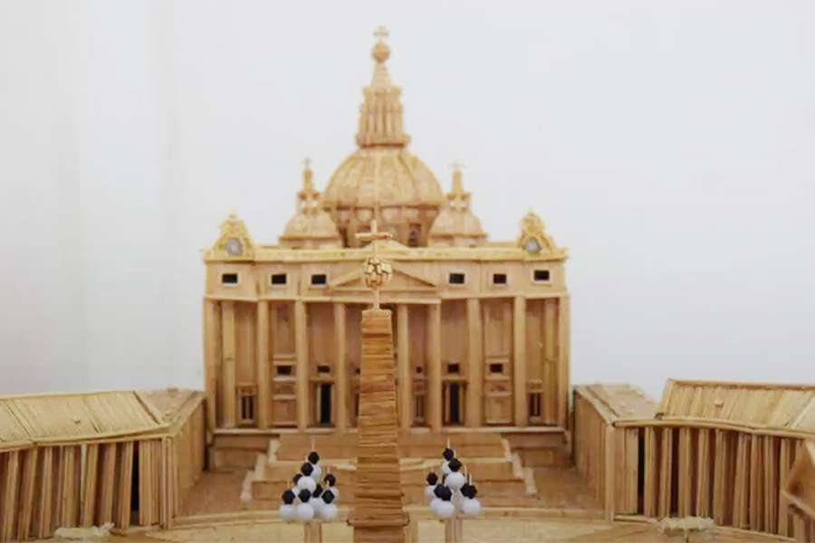 Man builds replica of St Peter's Basilica
